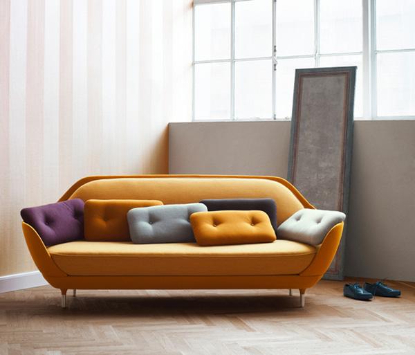 Arredare casa il divano di design favn viviconstile - Divano color senape ...