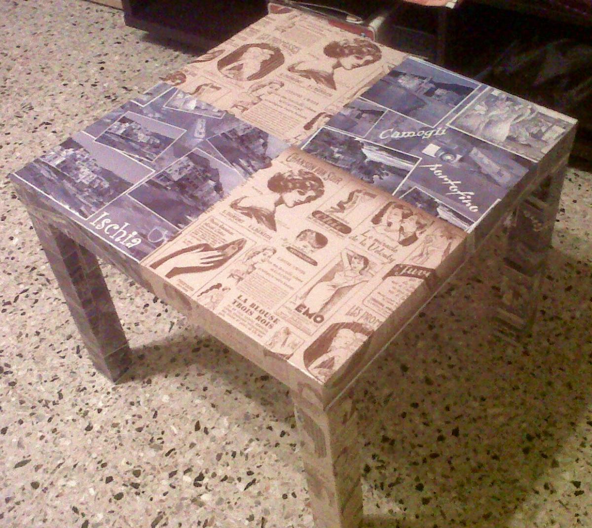 Lezioni di d coupage viviconstile - Decoupage su mobili ...